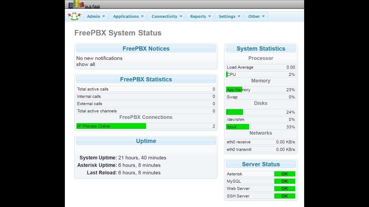 FreePBX VoIP Tutorial Part 6 - Configuring FreePBX
