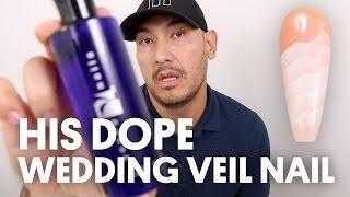 HIS DOPE WEDDING VEIL NAIL (ACRYLIC TEXTURED NAIL ART) - VLOG 19