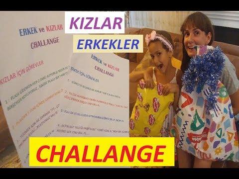 KIZLAR ERKEKLER CHALLANGE 3 eğlenceli çocuk videosu