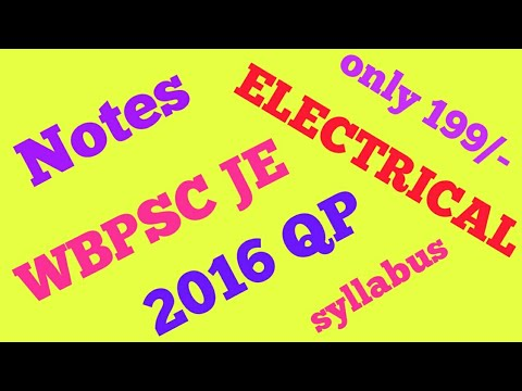 BEST BOOK FOR WBPSC JUNIOR ENGINEER || STUDY MATERIALS || ELECTRICAL ENGINEERING||