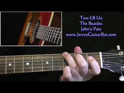 The Beatles Two Of Us Intro Guitar Lesson