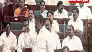 Real Fight in Tamilnadu Assembly - Jayalalitha Vs Vijayakant