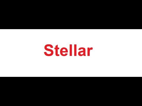 Stellar meaning in Hindi