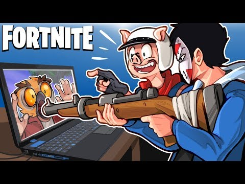 SNIPERS VS RUNNERS IN A GIANT LAPTOP! (Creative Mini Game) - Fortnite Battle Royale