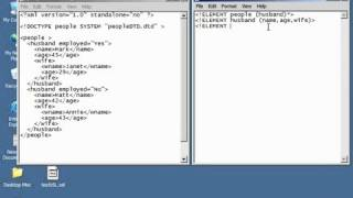 XML Tutorial   27 Creating A DTD Schema