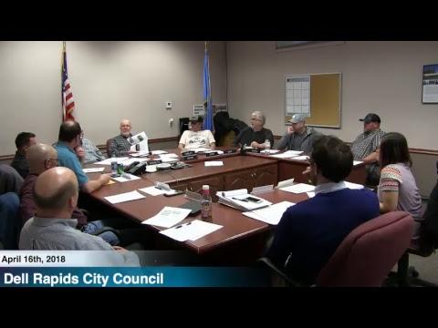 Dell Rapids City Council - 4/16/18