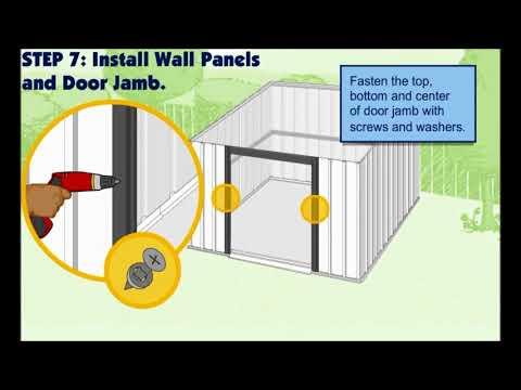 Video istruzioni montaggio box acciaio
