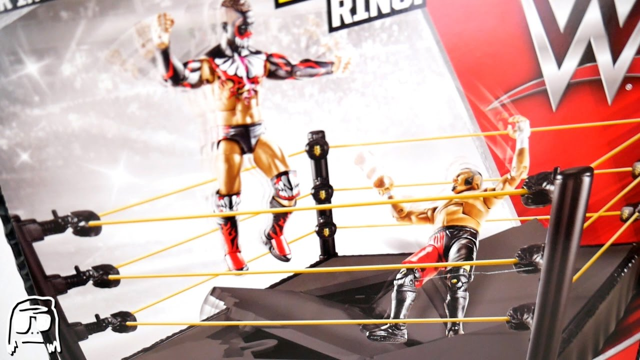 Toys R Us Wwe Rings : Wwe nxt breakable ring mattel toy playset unboxing