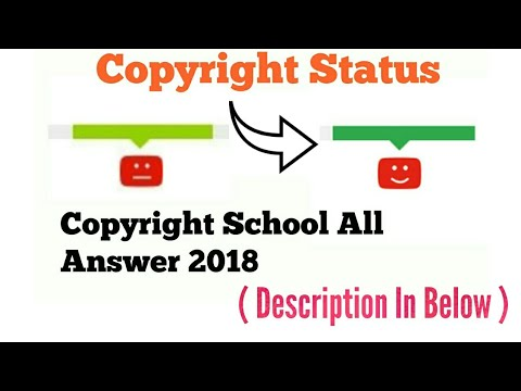 YouTube Copyright School All Question With Answer 2018
