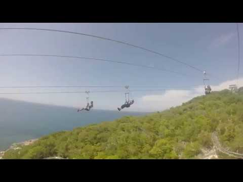 Best Zip Line EVER! Dragon's Breathe Zip Line in Labadee, Haiti