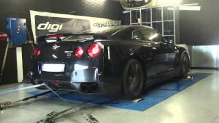 * Reprogrammation Moteur * Nissan GTR 35 Ethanol Stage 3 @ 643cv dyno Digiservices Paris