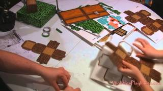 Minecraft Papercraft Overworld Deluxe Set Unboxing and Setup