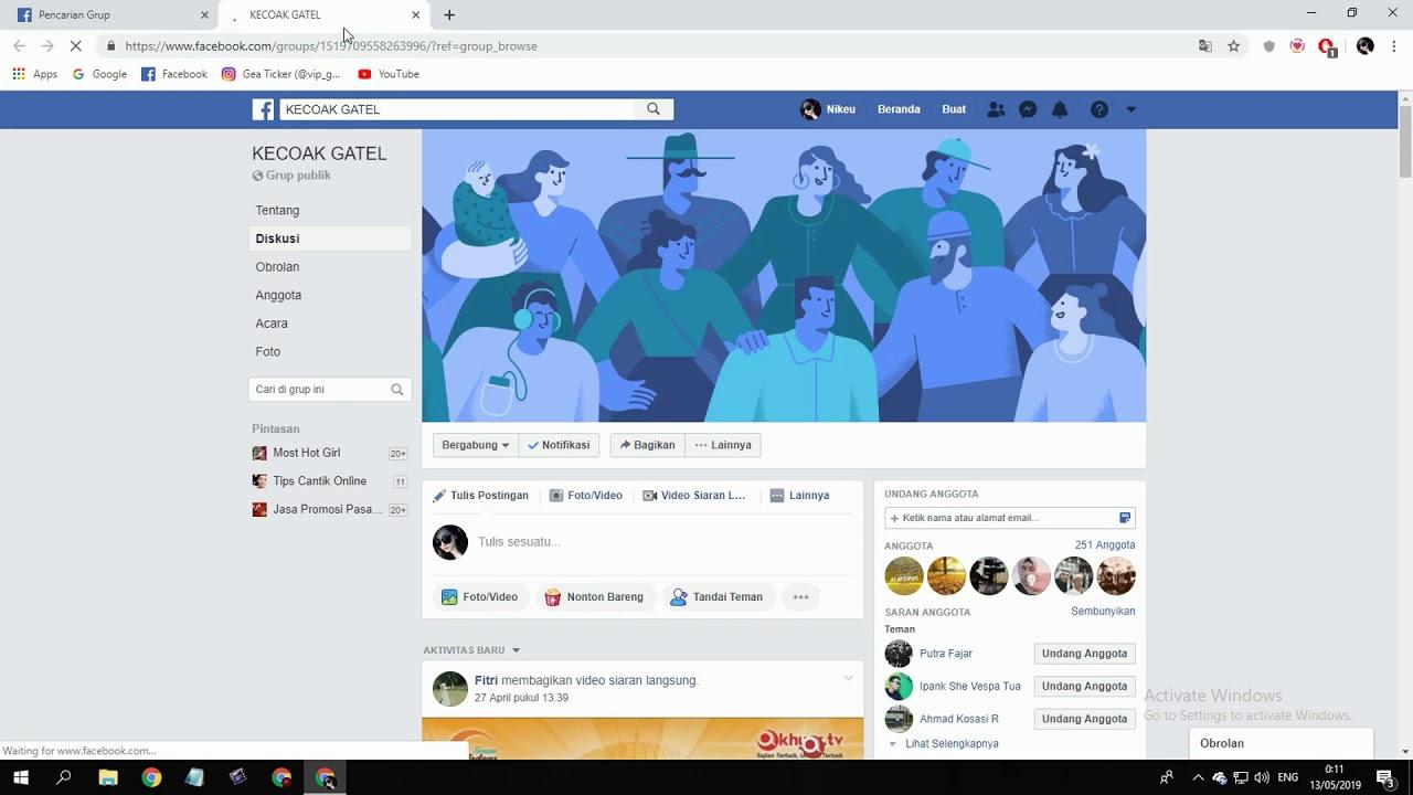 Cara Menjadi Admin Di Grup Facebook Orang Lain Youtube
