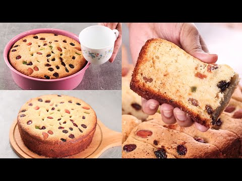 CHRISTMAS SPECIAL FRUITS CAKE WITH TEA CUP I MAKE CAKE WITH TEA CUP I EGGLESS & WITHOUT OVEN