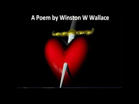 I Don't love You Anymore A Poem by Winston W Wallace