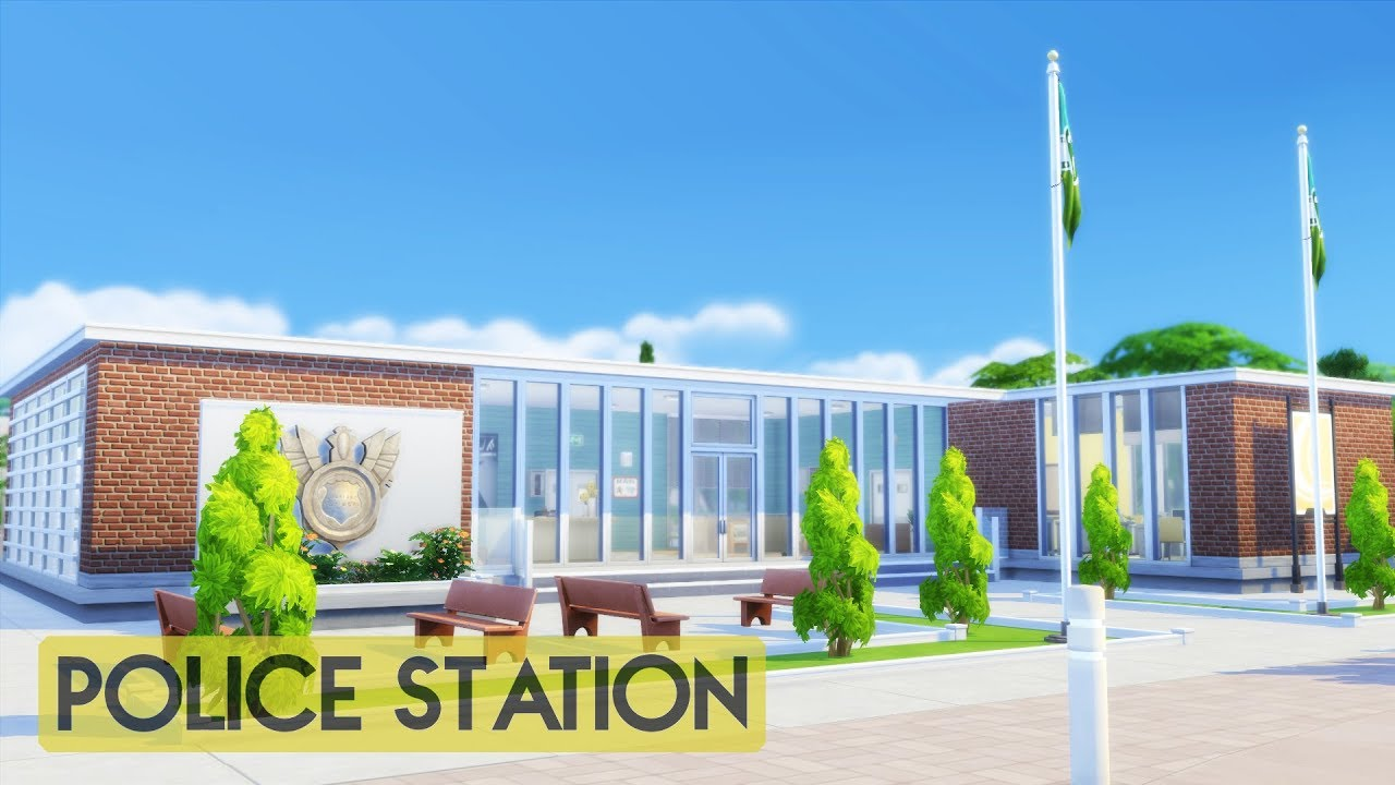 Sims 4 | House Building | Police Station