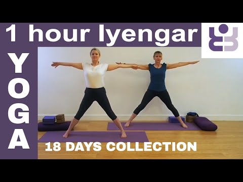 One Hour Iyengar Yoga Class - 18 Days Of Yoga Collection