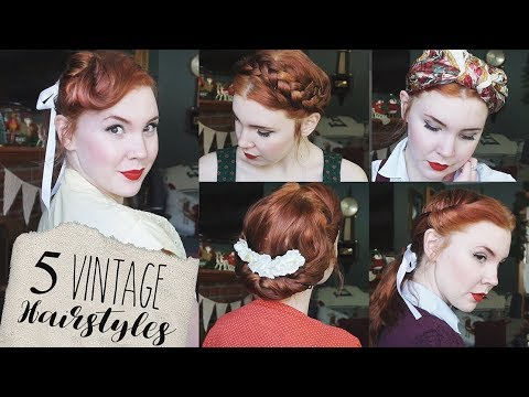 5 Quick Easy Vintage Hairstyles For Natural Straight Hair Youtube