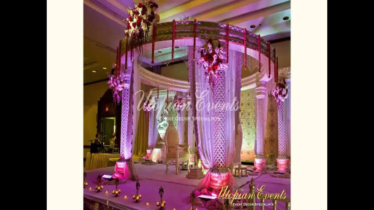 Indian wedding mandap decoration new youtube for How to make home decorations