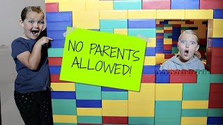 Kids Only Giant Lego Fort No Parents Allowed