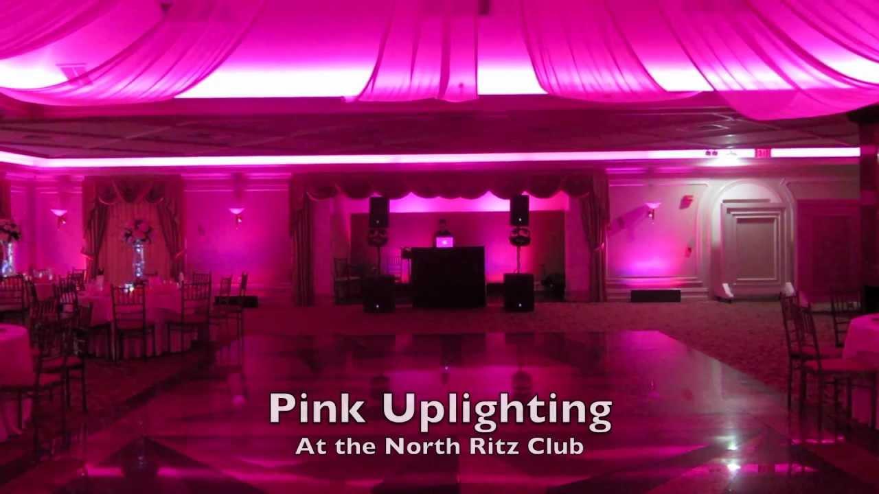 Pink Uplighting At The North Ritz Club