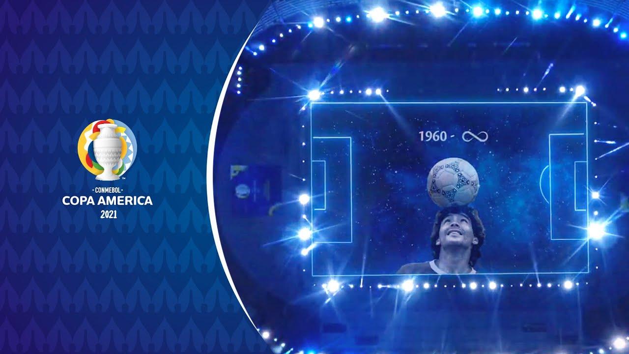 Copa América: el mágico tributo a Diego Maradona