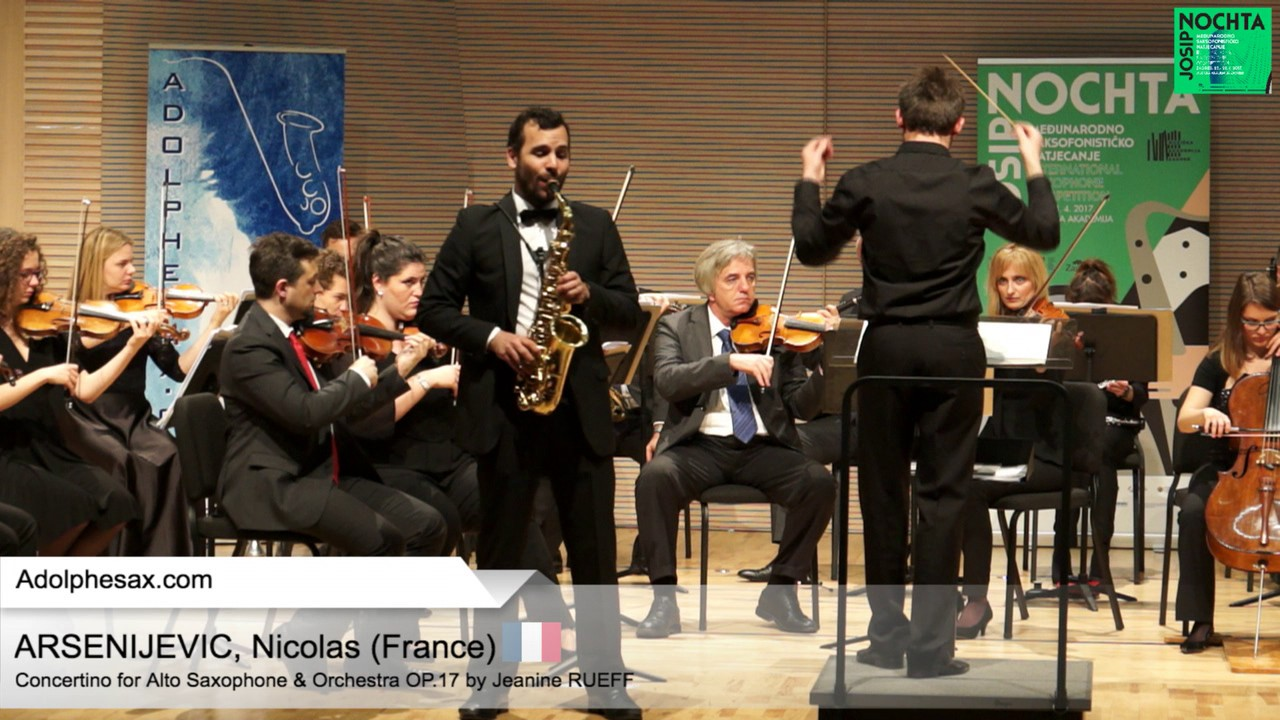 Nicolas ARSENIJEVIC (France) -  Concertino by Jeanine RUEFF