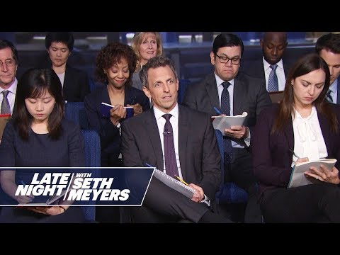 Late Night White House Press Conference with Trump: Are You Done with Porn Stars?