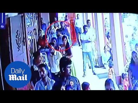 CCTV Shows Bomber Entering Katuwapitiya Church