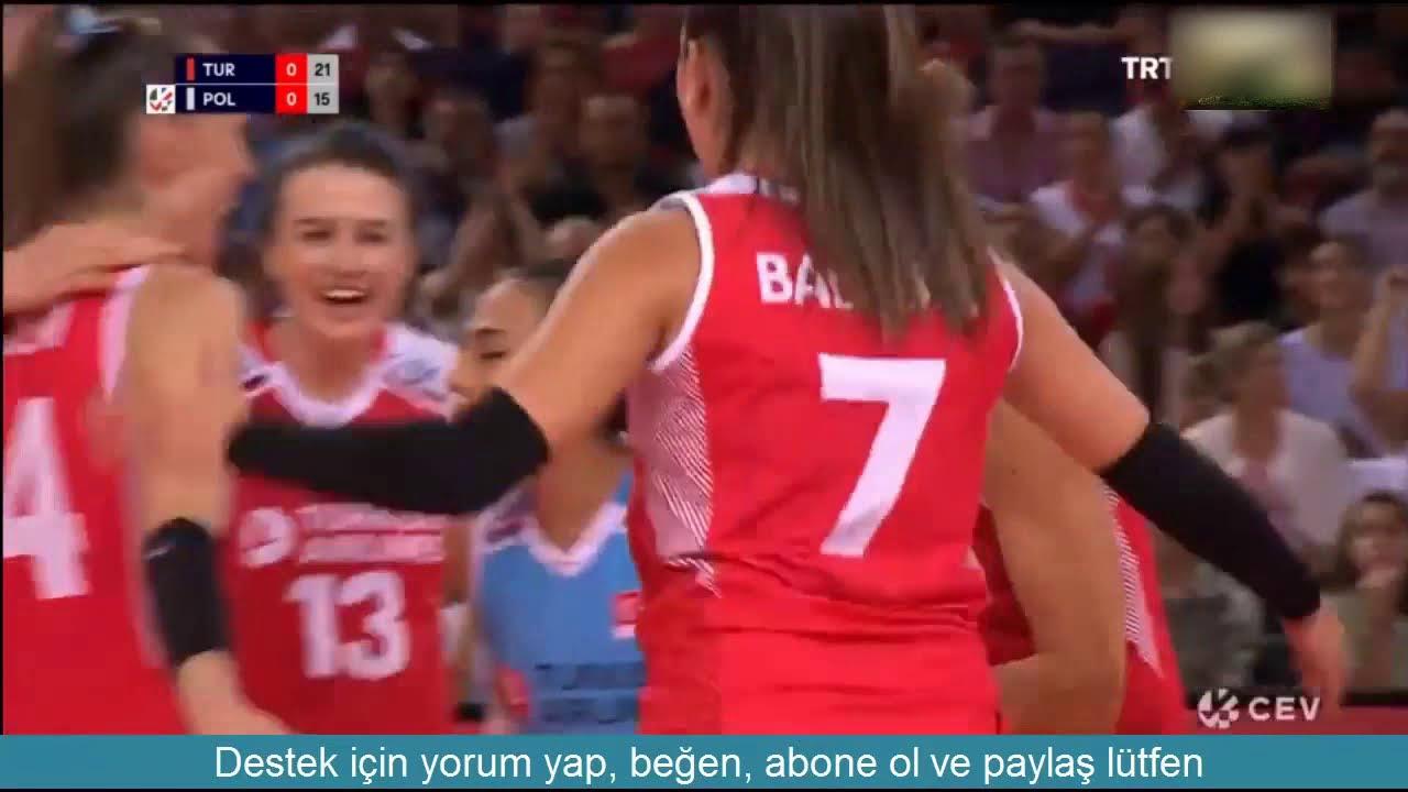 Türkiye 3-1 Polonya | Maç Özeti & 2019 CEV Avrupa Voleybol Şampiyonası