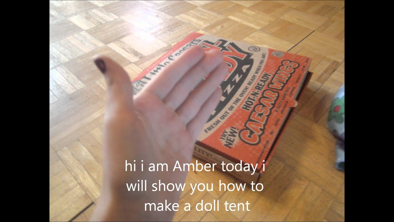 How To Make A Tent How To Make A Doll Tent Youtube