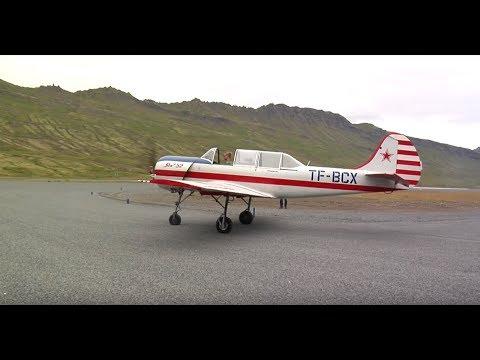 Yak 52 Aerobatics in Iceland