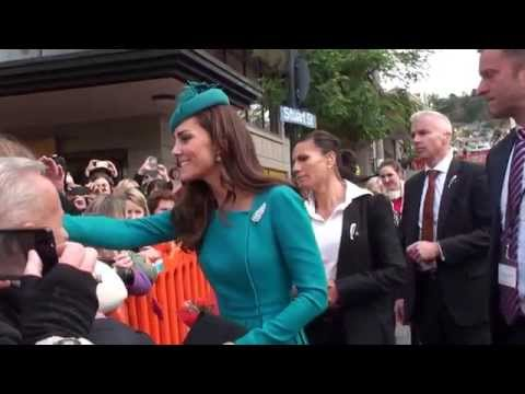 Meeting the Duchess of Cambridge in Dunedin, NZ :)