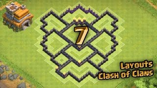 Layout Clash of Clans - Melhor Layout de Farm para Centro de Vila 7 - CV 7 - TH7 - [3]