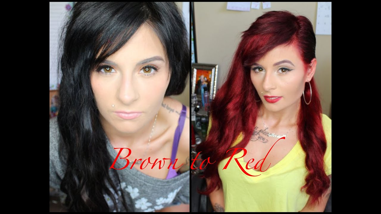 How I Went From Brown Hair To Red Hair Pinkl0vexx Youtube