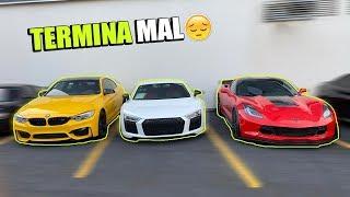 CORVETTE, AUDI R8 Y BMW M4 JUNTOS PERO TERMINA MAL    ALFREDO VALENZUELA