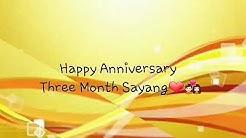 Anniversary 3 bulan