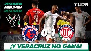 Resumen y goles | Veracruz 0 - 1 Toluca | Copa Mx 19 - J 3 | TUDN