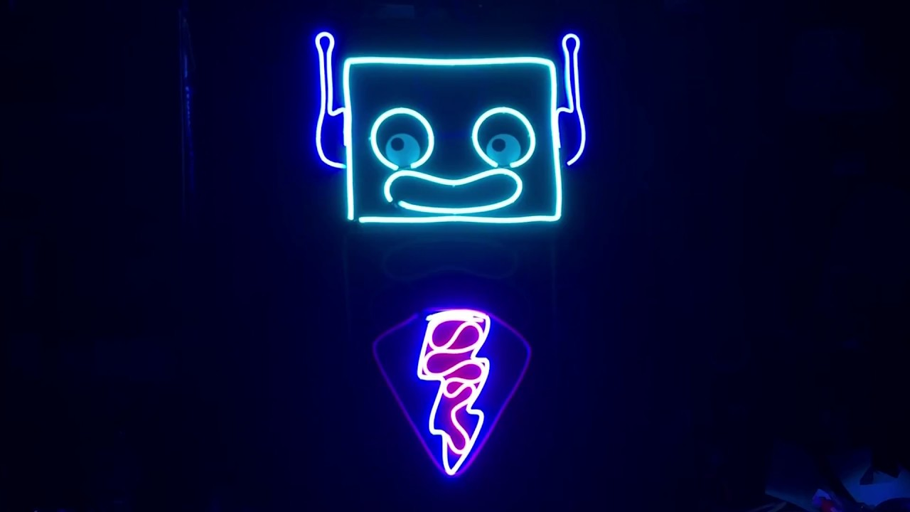 neon sign schematic [ 1280 x 720 Pixel ]