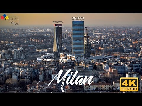 Milano 2019 Citylife  | 4K Skyline Aerial Drone Footage of Milan Italy