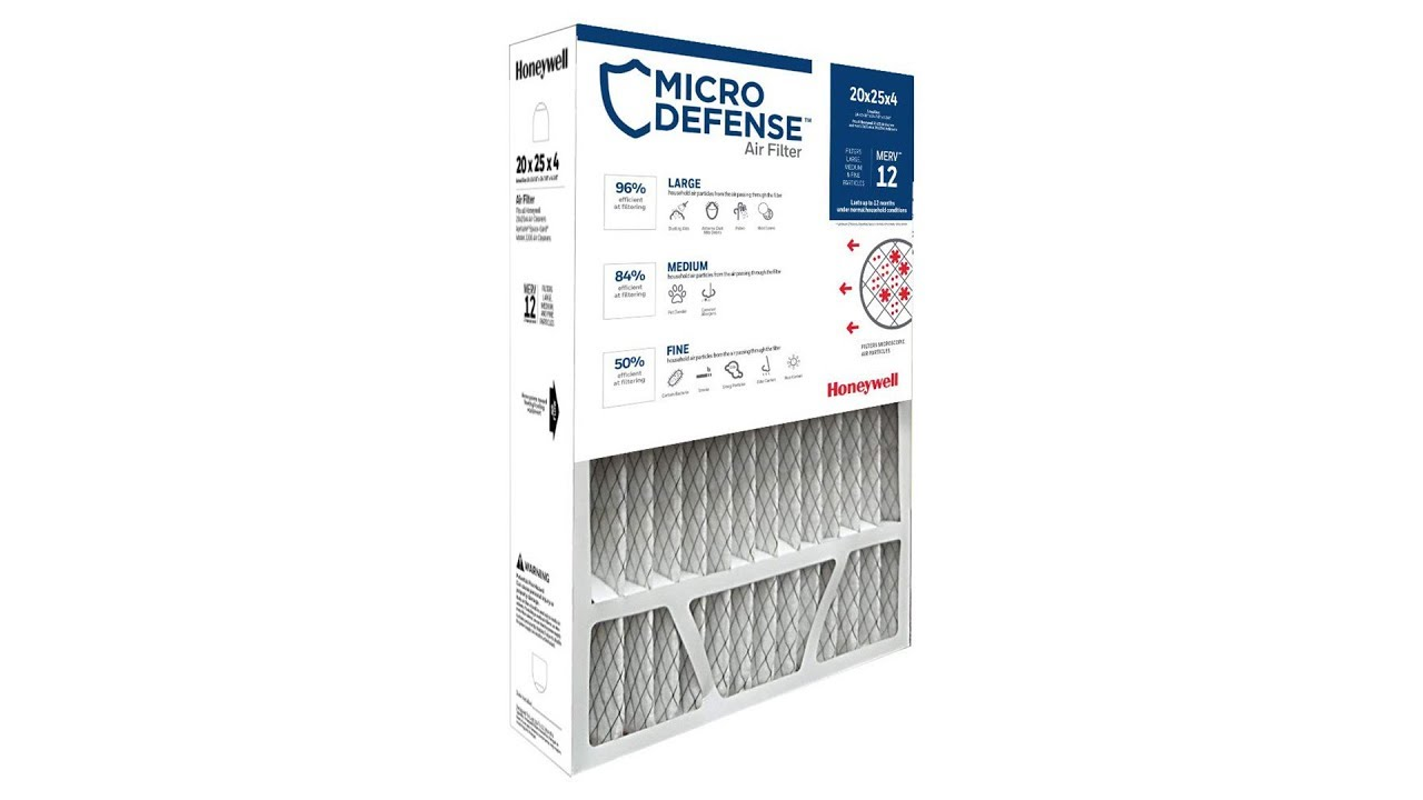 Honeywell Air Filter Ultra Efficiency CF200A1016/U, 20x25x4 - Merv 12