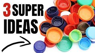 3 Ideas de Reciclaje con Tapas de Botella de Plástico #2