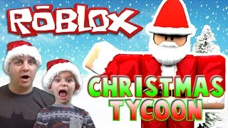SANTA TRIED TO KILL US! Christmas Tycoon - ROBLOX