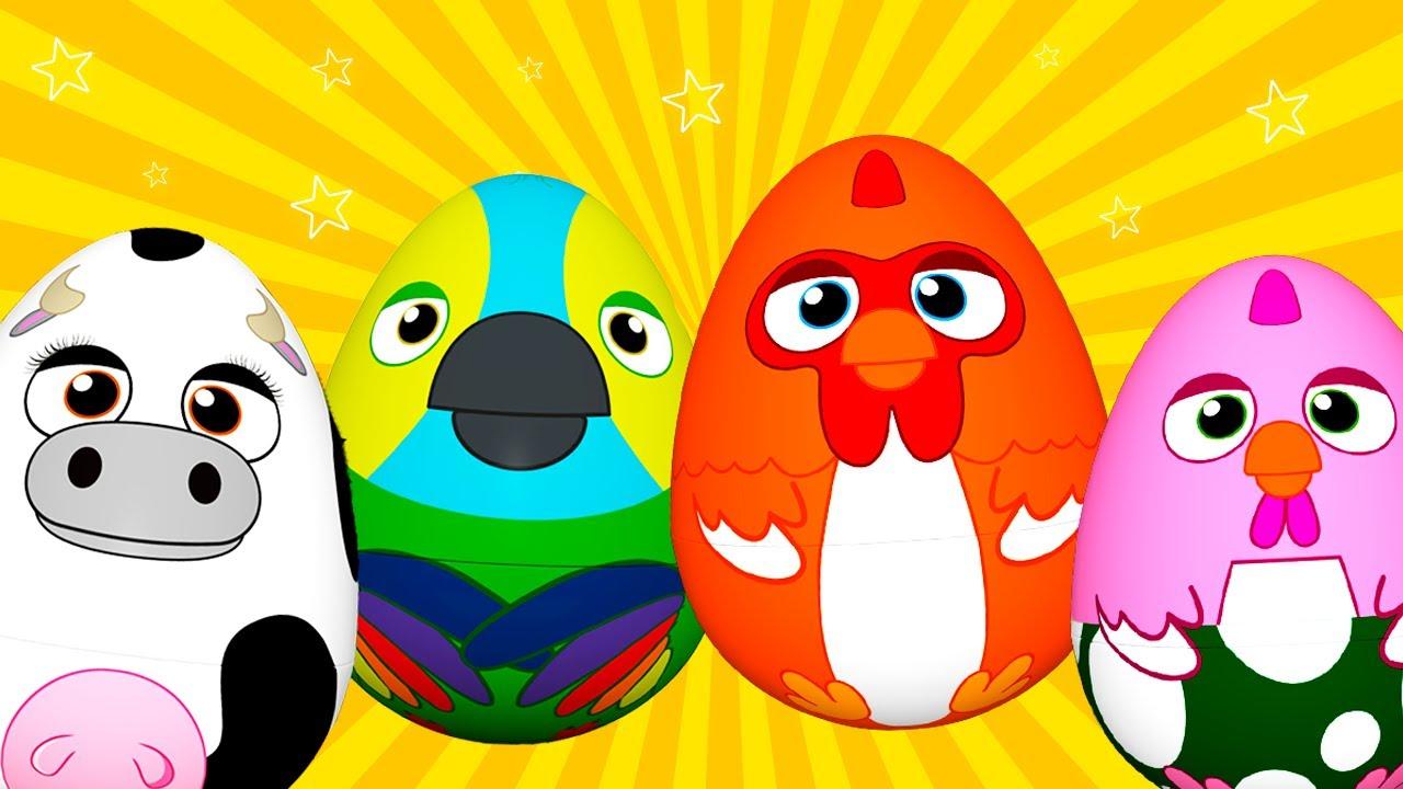 ¡Huevos Sorpresa de La Granja! Bartolito, Bataraza, Vaca Lola y Lorito Pepe! | El Reino Infantil