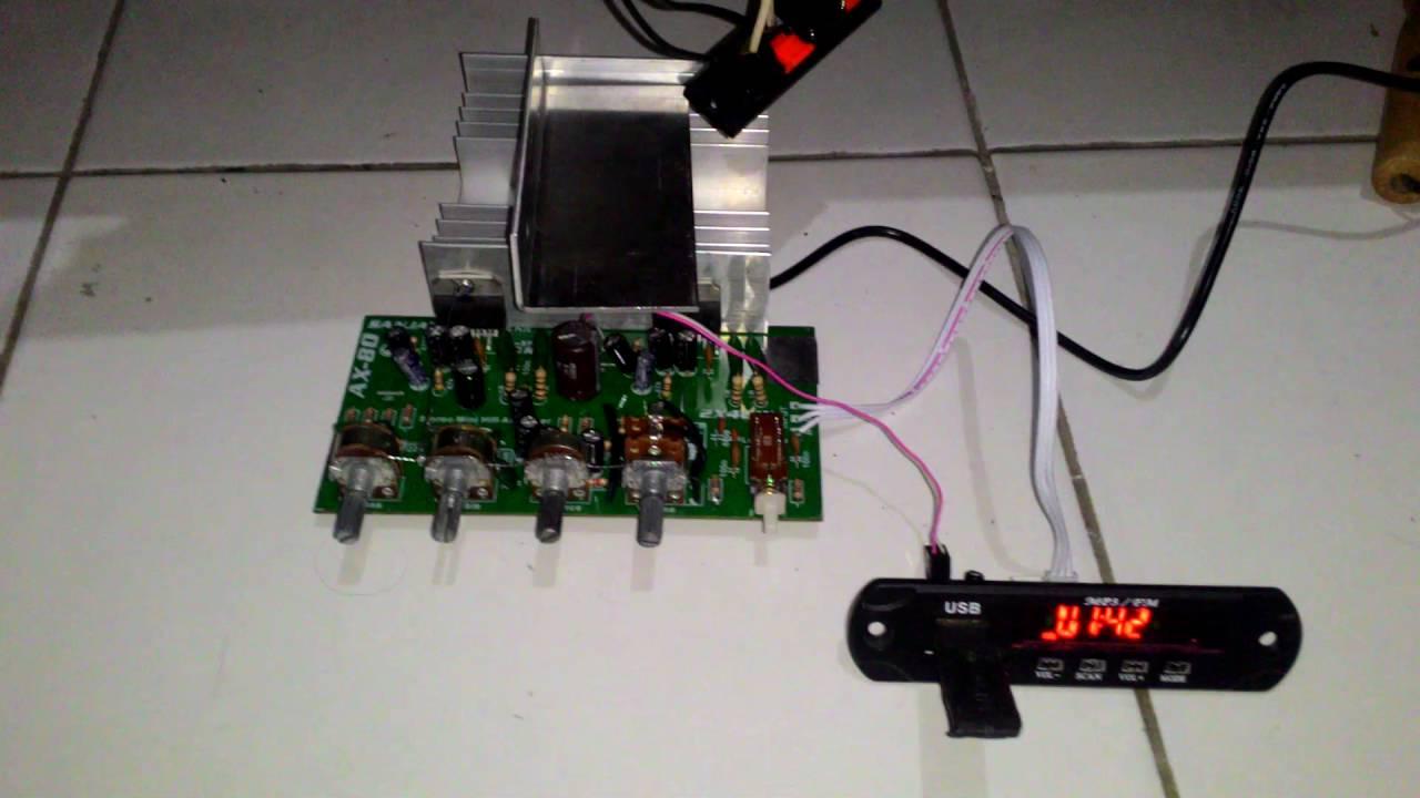 mini amplifier tda2005 with adaptor 12v 2a part 1 youtube. Black Bedroom Furniture Sets. Home Design Ideas