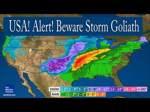 Weird Weather Alert! America! Be Aware of Giant Winter Storm Goliath!
