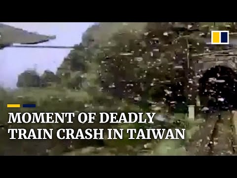 Taiwan releases dramatic footage of train crash which killed 50 people