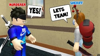 OMG! I CAUGHT THEM TEAMING! (Roblox Murder Mystery 2)