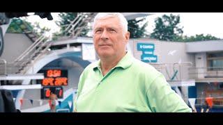 Съемка интервью чемпиона мира по водному поло Михаила Иванова телеканалом «Москва 24»