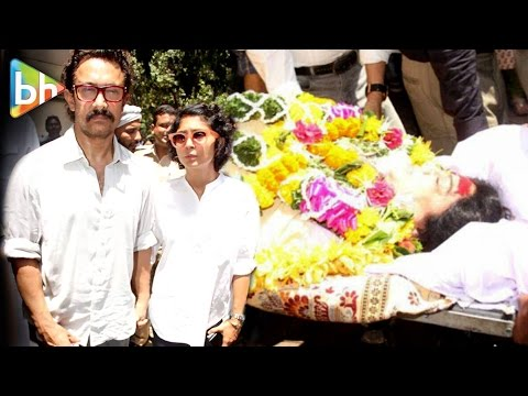 Aamir Khan And Kiran Rao At Last Rites Ceremony Of Reema Lagoo